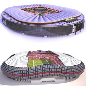 3D model football stadiums 2