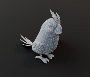 3D cartoon parrot bird base mesh model