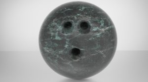 bowling marble ball 3D
