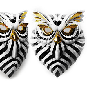 owl mask lladro 3D model