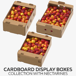 3D cardboard display boxes nectarines