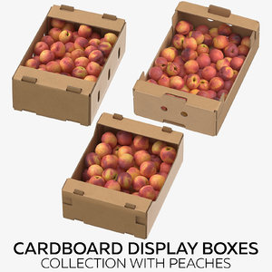 3D cardboard display boxes peaches