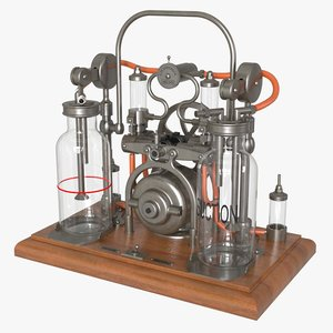 antique embalming pump 3D model