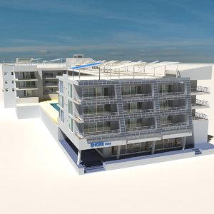 3D beach building 12