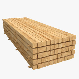 wood wooden stack 3D model
