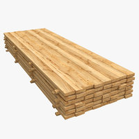 Wooden Boards Stack