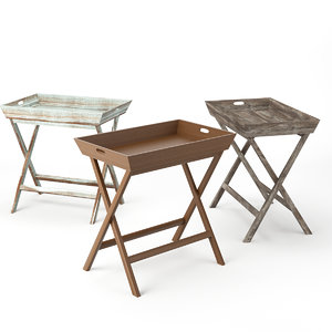 3d ainsley tray table model