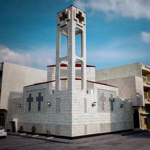 bulding church 3D model