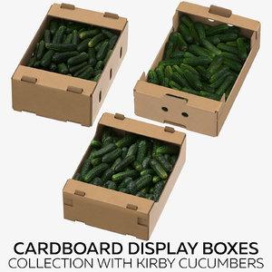 3D cardboard display boxes kirby model
