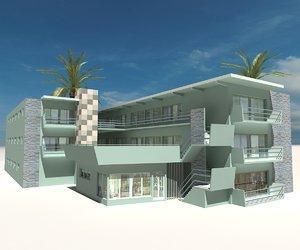 3D beach building 10 model