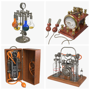 3D antique medical devices model