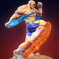 Sagat (Fan art) 3D Printing Ready