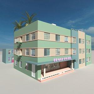 3D beach building 11
