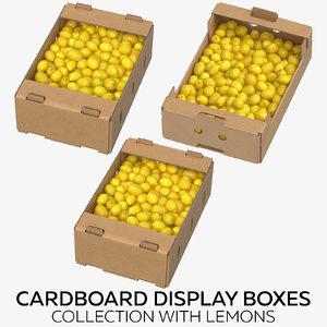 3D cardboard display boxes lemons