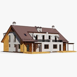 3D model gameready house 12 cottage