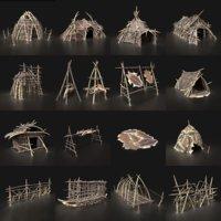 Orc Camp Primal Men Hunter Ancient Huts Builder Pack AAA NEXTGEN