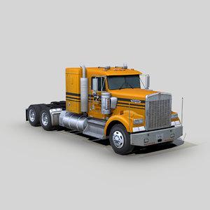 w900 semi truck 3D
