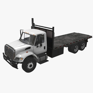 navistar international 7400 flatbed 3D
