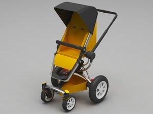 pram 3D model