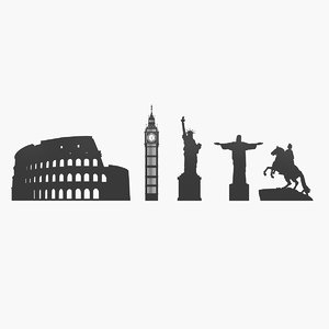 3D landmarks silhouette