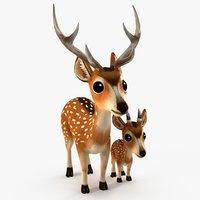 Deer_family(cartoon)