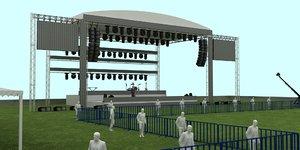 outdoor concert stage 3D model