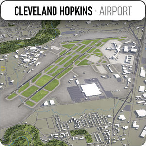 cleveland hopkins international airport 3D model