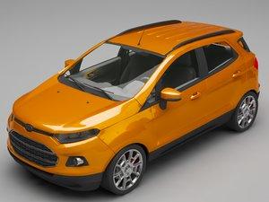 3D suv car