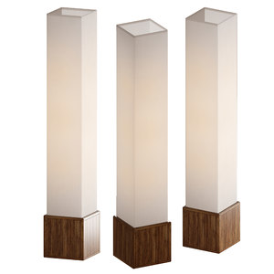 3D floor lamp sebu lantern model