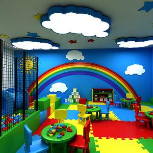 3D model kindergarten