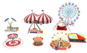 amusement park equipment 3D model