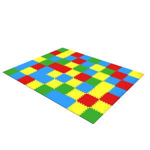 3D model kindergarten floor