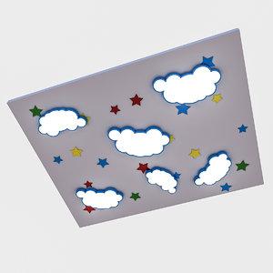 kindergarten ceiling 3D model