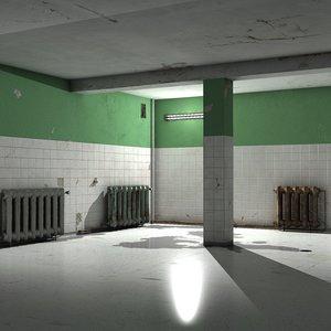 room interior walls tiles 3D