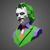 Joker Low Poly for Papercraft
