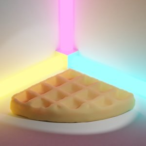 food waffle 3D