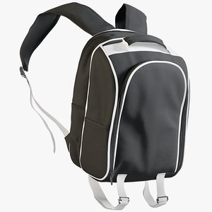 3D model realistic women s backpack