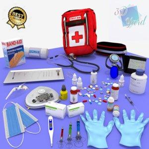 kit medical 3D model