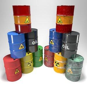 3D barrels modelled