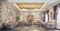 Realistic Ladies Salon Luxury Design 3d Max Model