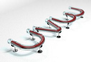 uvw glass tube font 3D model