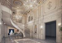 Realistic Reception Hall Classic Design 3d max model 3D model