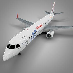 air europa embraer195 l674 3D model