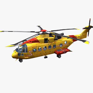 rescue helicopter ch-149 3D model