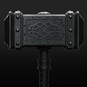 viking battle hammer 3D model