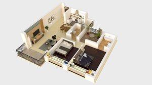 3D details floorplan model