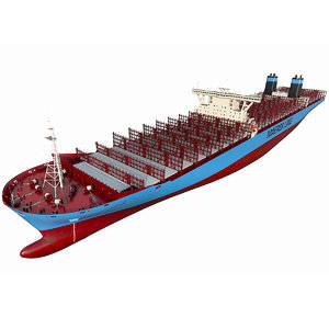 container ship general 3D model