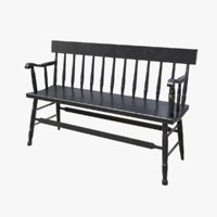 Bench Black Painted