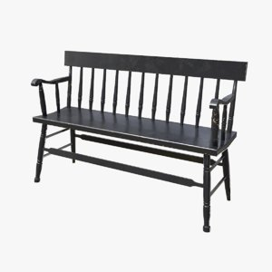 3D wooden bench