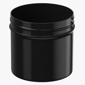 plastic jar wide mouth 3D model